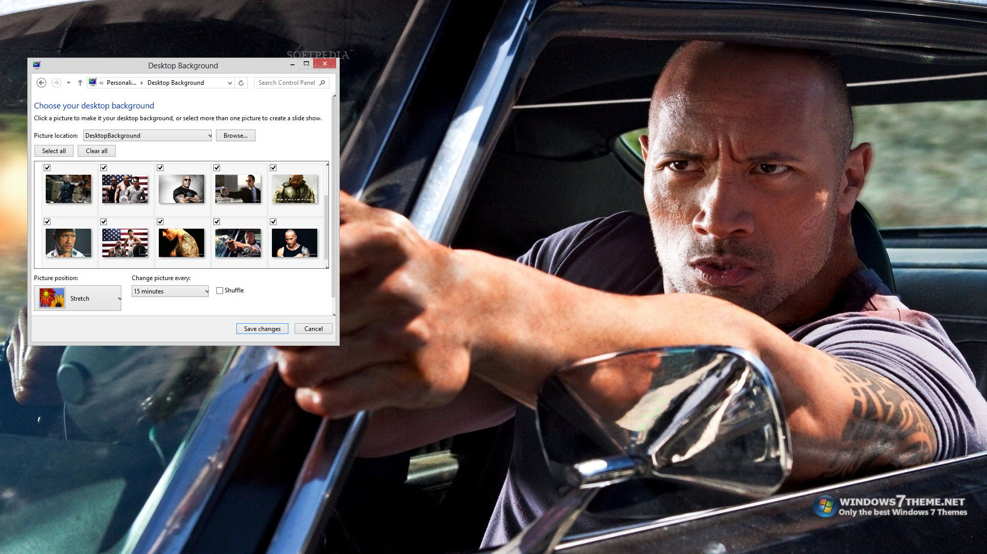 Dwayne Johnson Windows 7 Theme