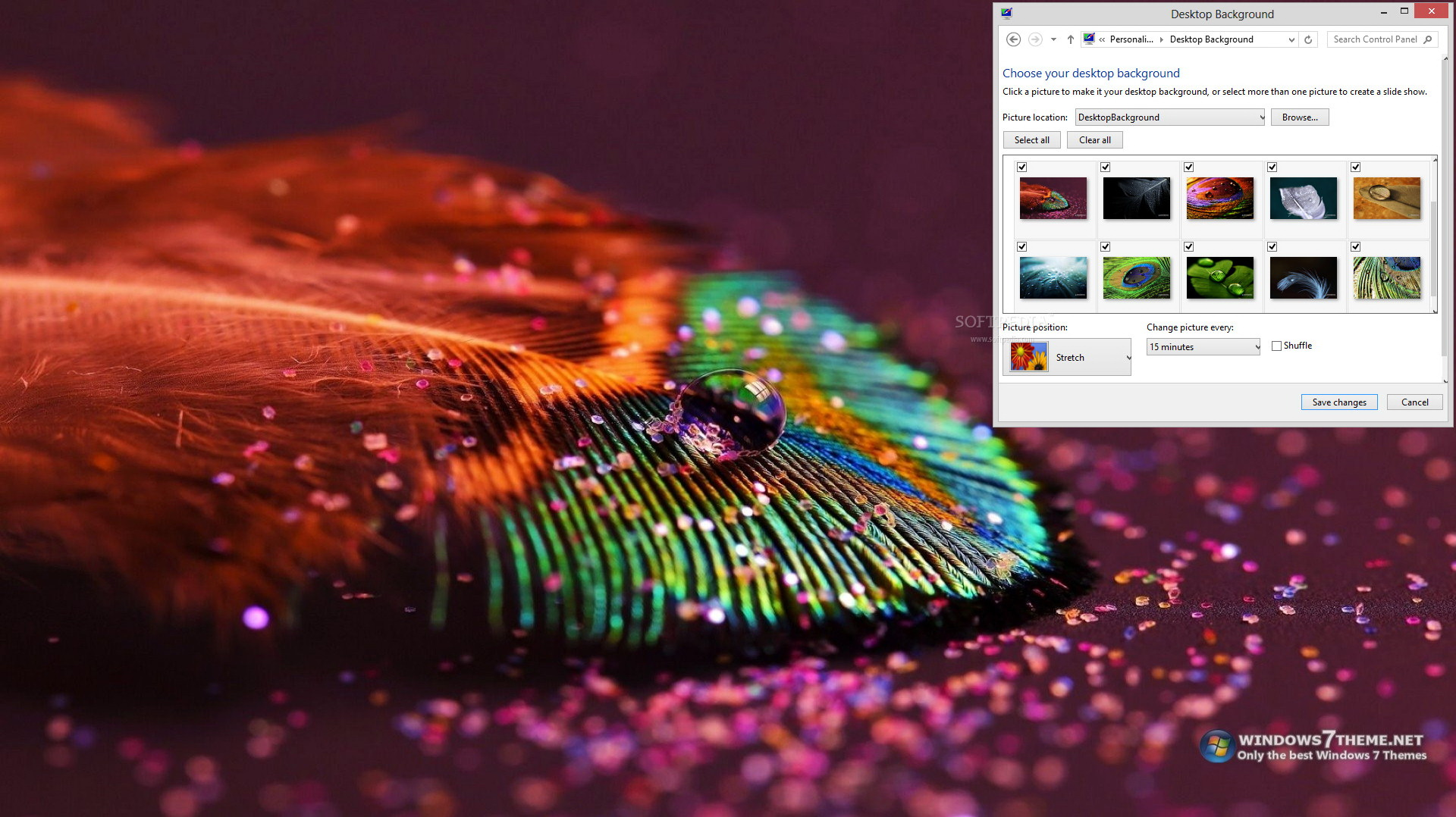 Feather Drops Windows 7 Theme