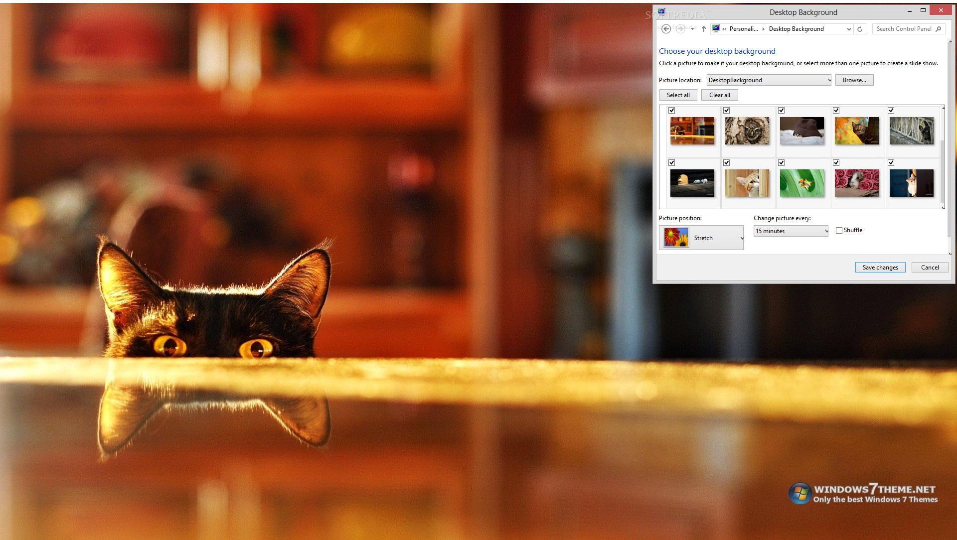 Peeping Animals Windows 7 Theme