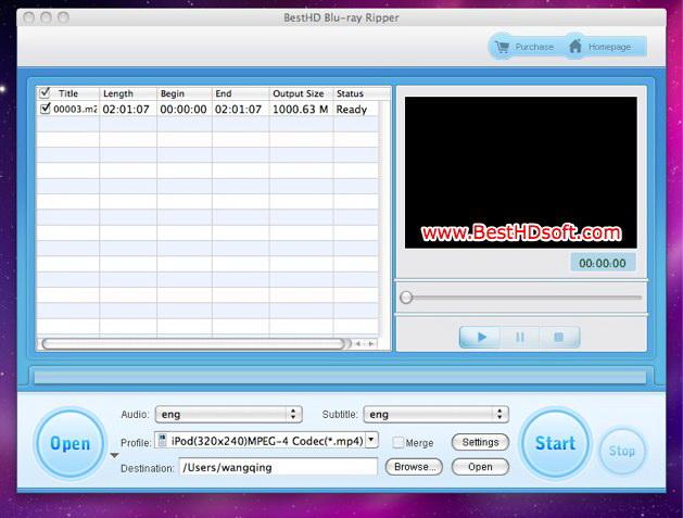 BestHD Blu-ray Ripper for Mac