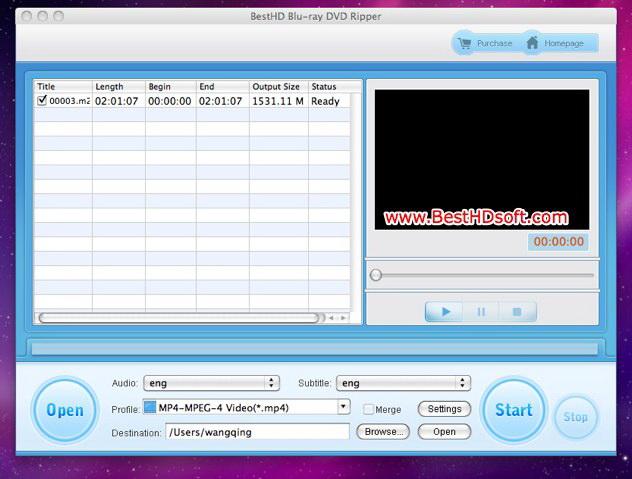 BestHD Blu-ray DVD Ripper for Mac