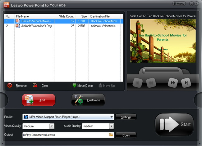 Leawo PowerPoint to YouTube Converter