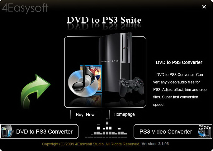 4Easysoft DVD to PS3 Suite