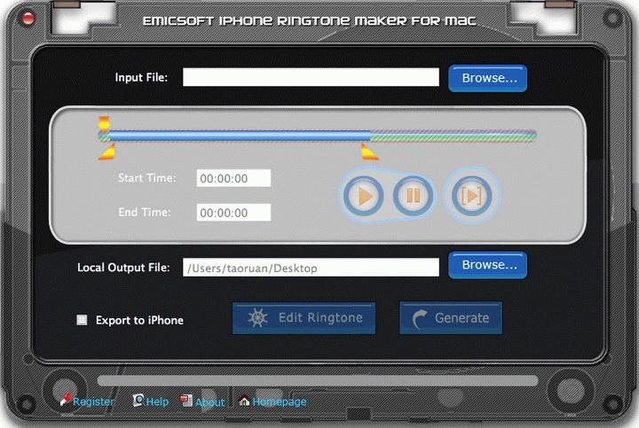 Emicsoft iPhone Ringtone Maker for Mac