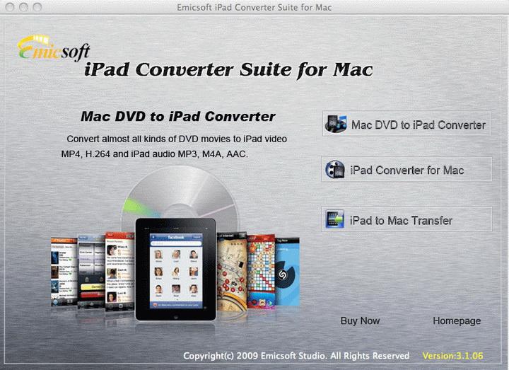 Emicsoft iPad Converter Suite for Mac
