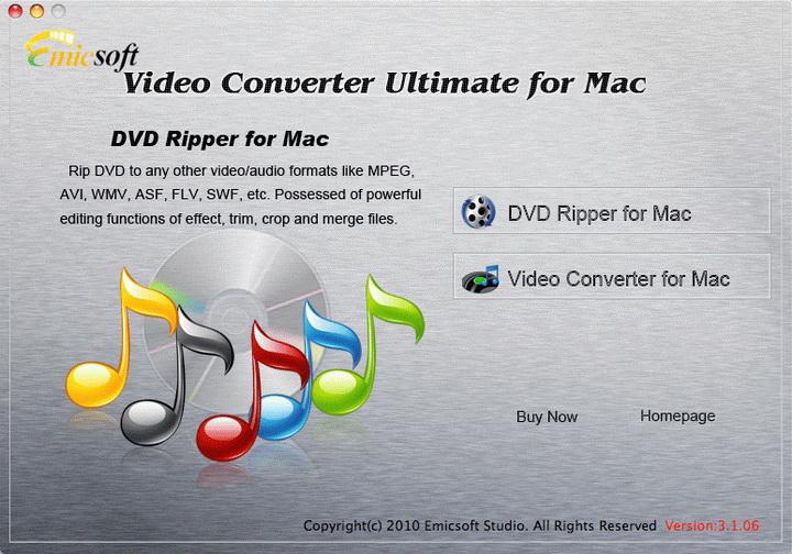 Emicsoft Video Converter Ultimate for Mac