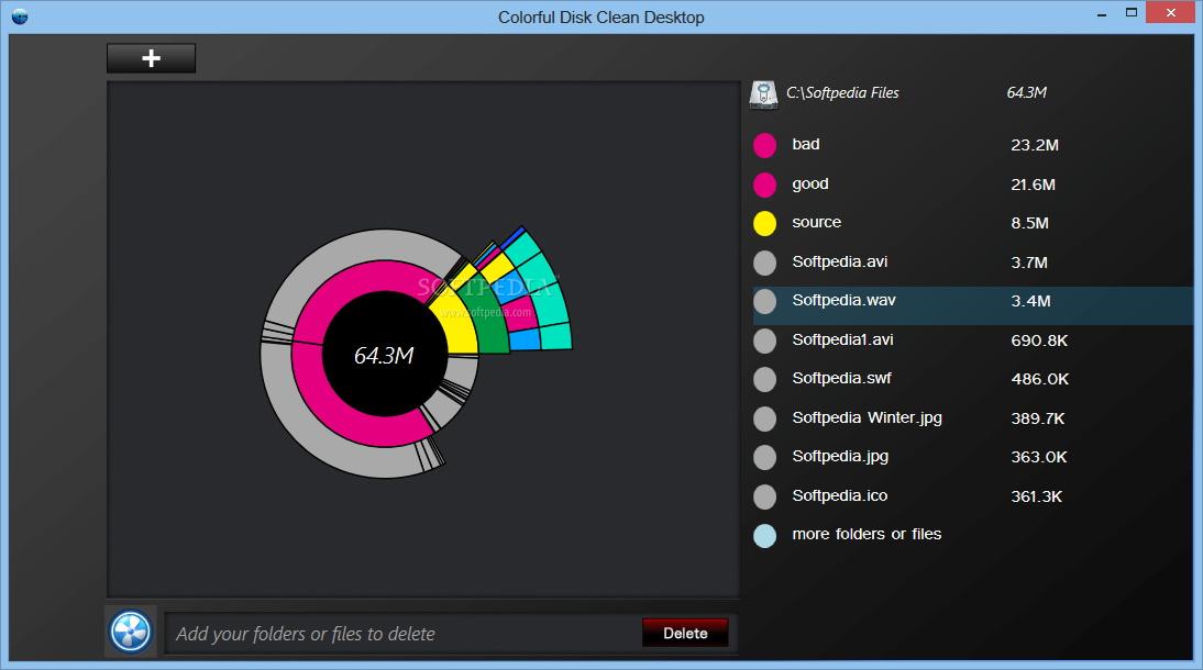 Colorful Disk Clean Desktop