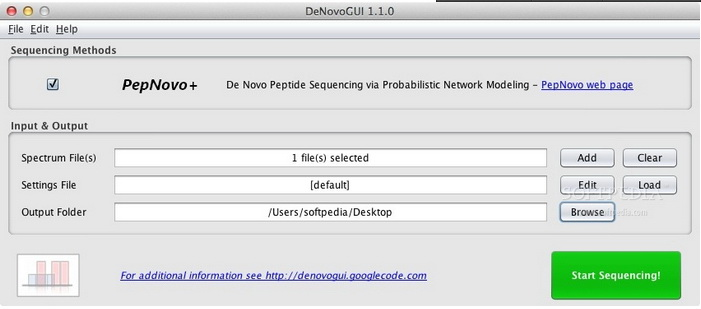 DeNovoGUI For Mac