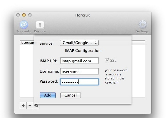 Horcrux Email Backup For Mac