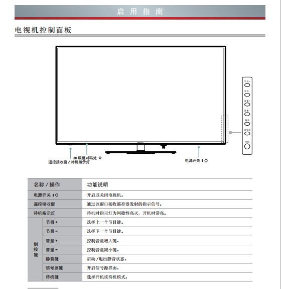 海信LED65EC760J3D(025.3962SS)液晶彩电使用说明书