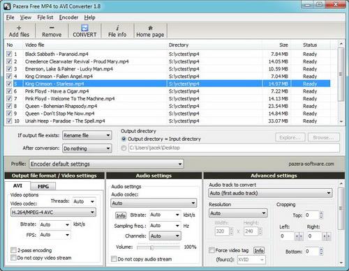 Pazera Free MP4 to AVI Converter Portable