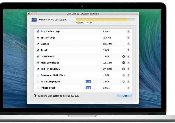 Disk Diet For Mac