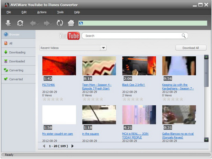 AVCWare YouTube to iTunes Converter