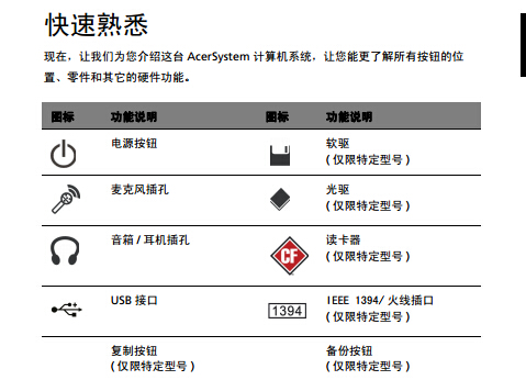 ACER宏基easyStore H340计算机说明书