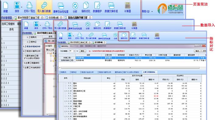造价168指标分析系统