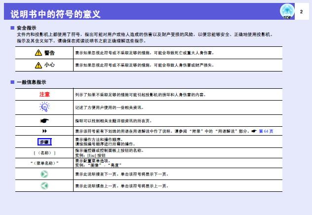 爱普生EMP-822H投影仪使用说明书