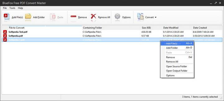 BlueFox Free PDF Convert Master
