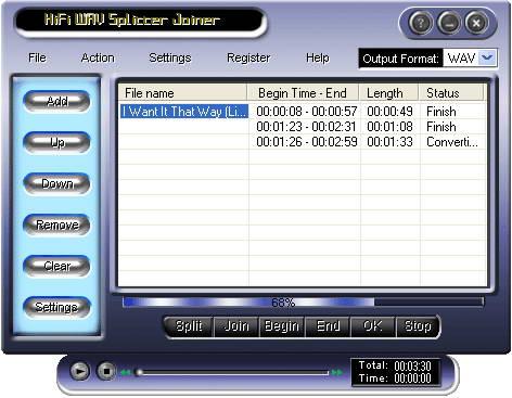 HiFi WMA Splitter Joiner