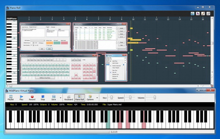 MidiPiano 迷笛虚拟钢琴