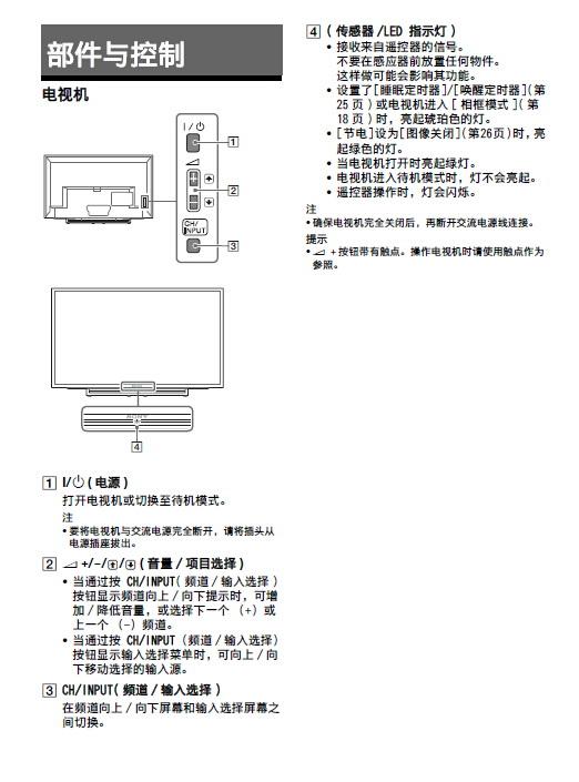 索尼KDL-40R480B液晶彩电使用说明书