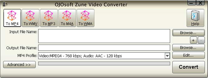 OJOsoft Zune Video Converter