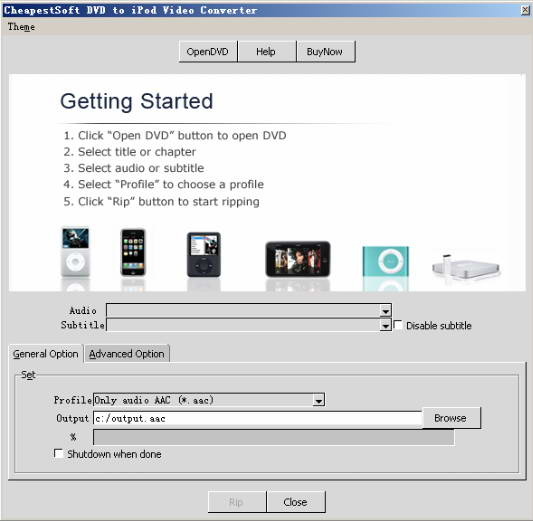 CheapestSoft DVD to iPod Video Converter