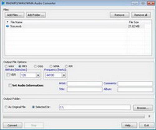 RM/MP3/WAV/WMA Audio Converter