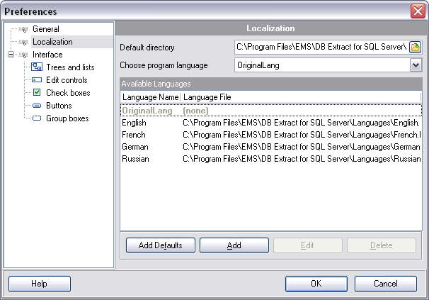 EMS DB Extract for SQL Server