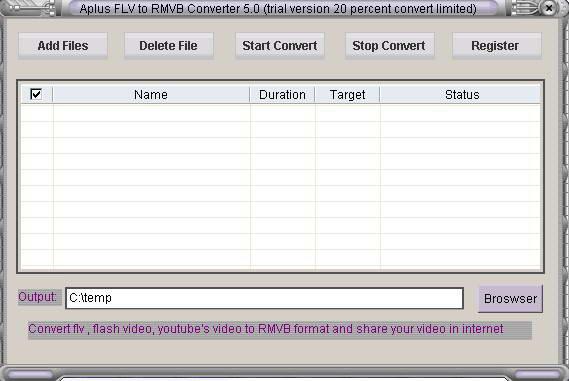 Aplus FLV to RMVB Converter