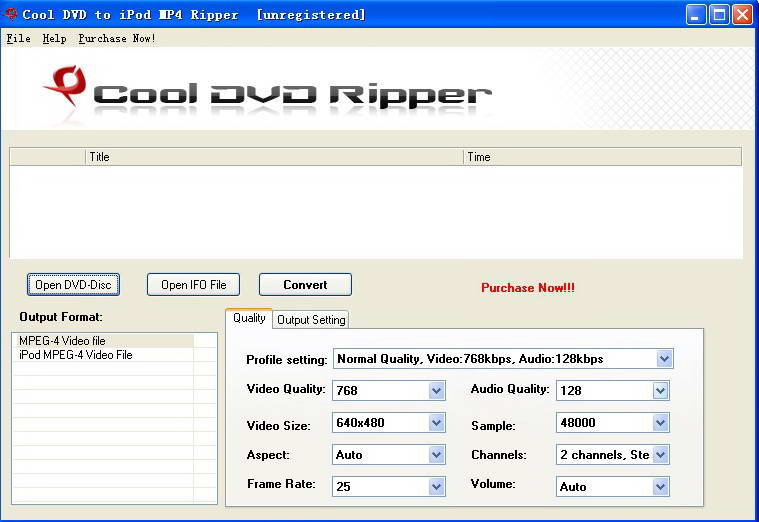 Cool Free DVD to iPod MP4 Ripper