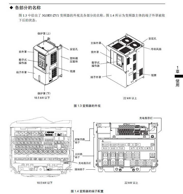 欧姆龙3G3RV-B422K-ZV1变频器说明书