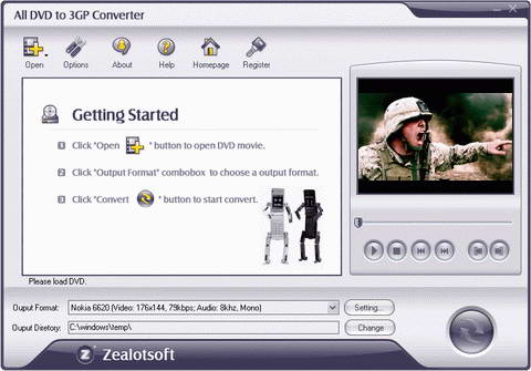 Zealot All DVD to 3GP Converter