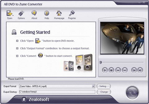Zealot All DVD to Zune Converter