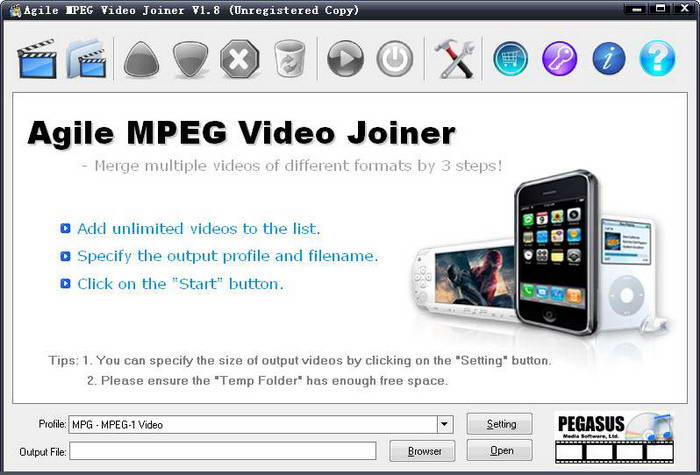 Agile MPEG Video Joiner