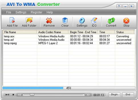 Crystal AVI To WMA Converter