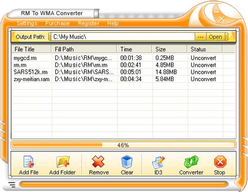 Crystal RM to WMA Converter