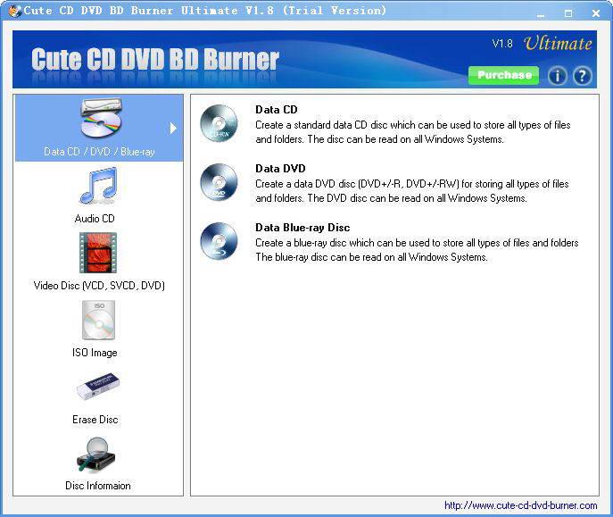 Cute CD DVD BD Burner Ultimate