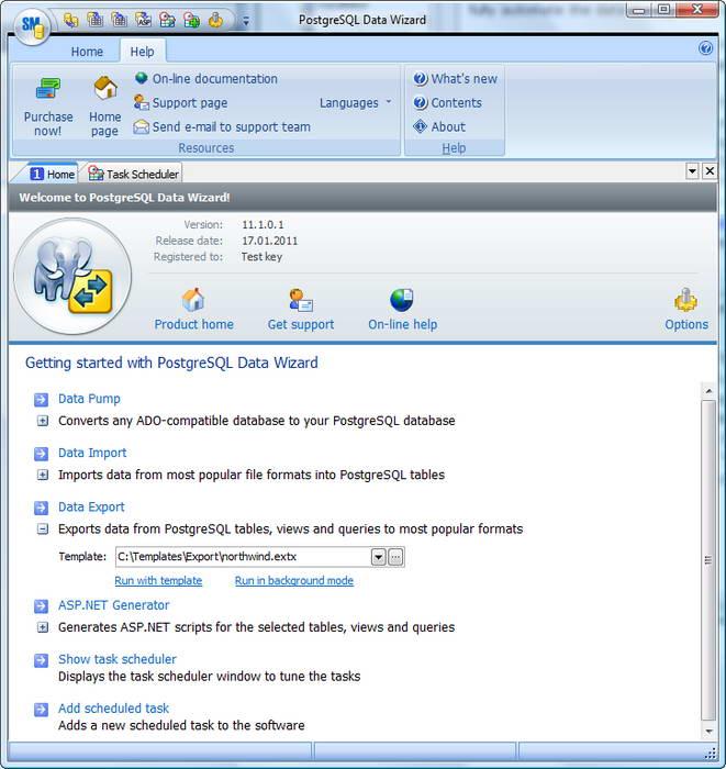 PostgreSQL Data Wizard