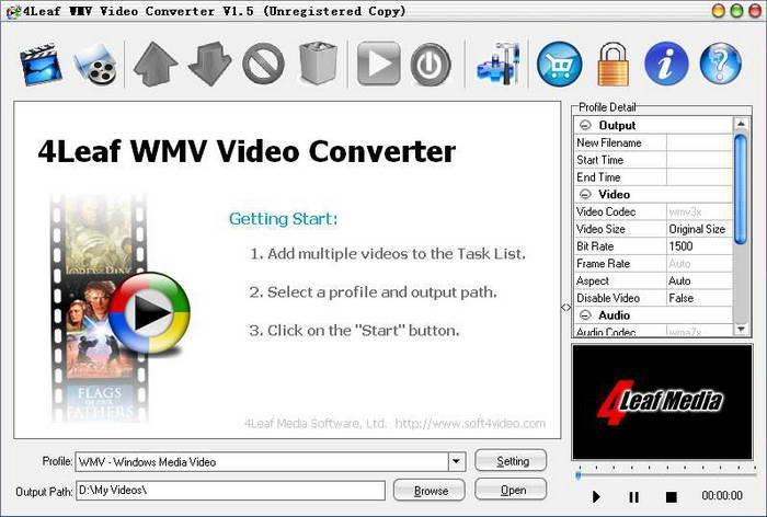 4Leaf WMV Video Converter