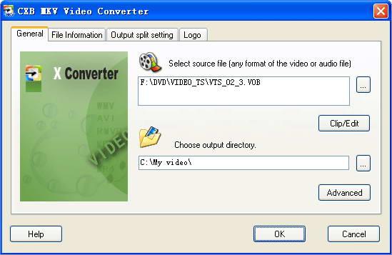 CXB MKV Video Converter