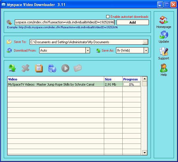 Myspace Video Downloader