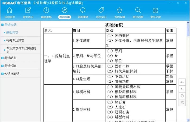 2016版主管技师考试宝典(口腔医学技术)