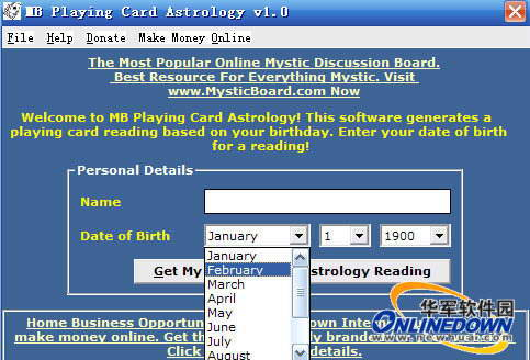 MB Playing Card Astrology