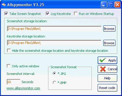 AllSpyMonitor Keylogger