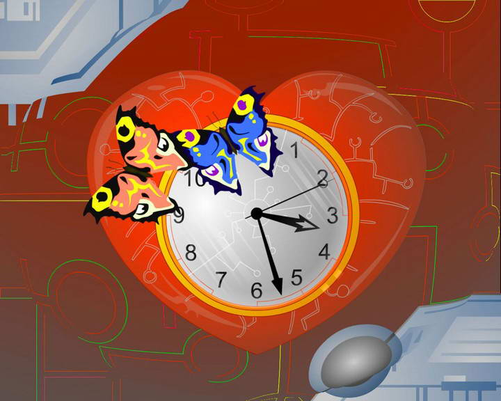 Cyberpunk Clock ScreenSaver