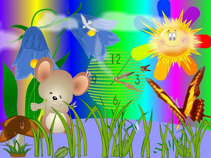 Mouse Clock ScreenSaver
