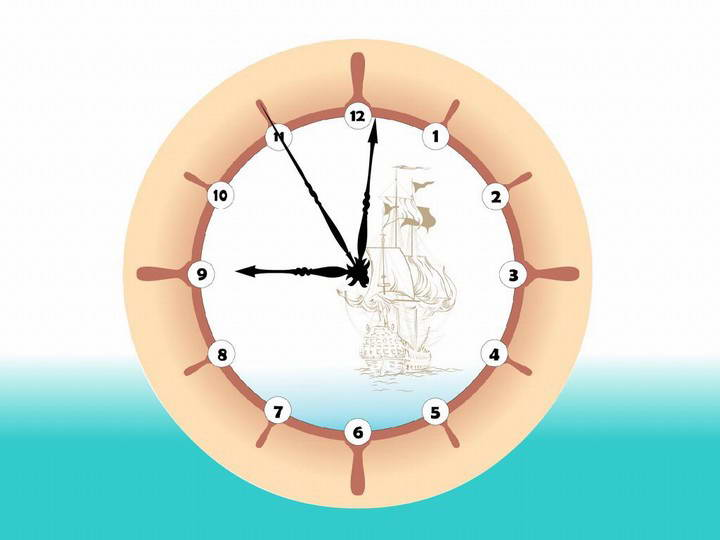 Sea Breeze Clock ScreenSaver