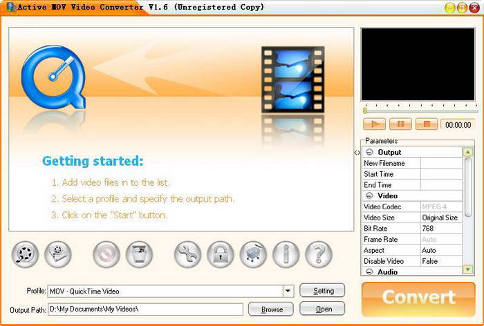 Active MOV Video Converter