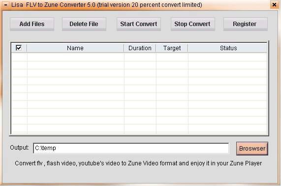 lisasoft FLV to ZUNE Converter