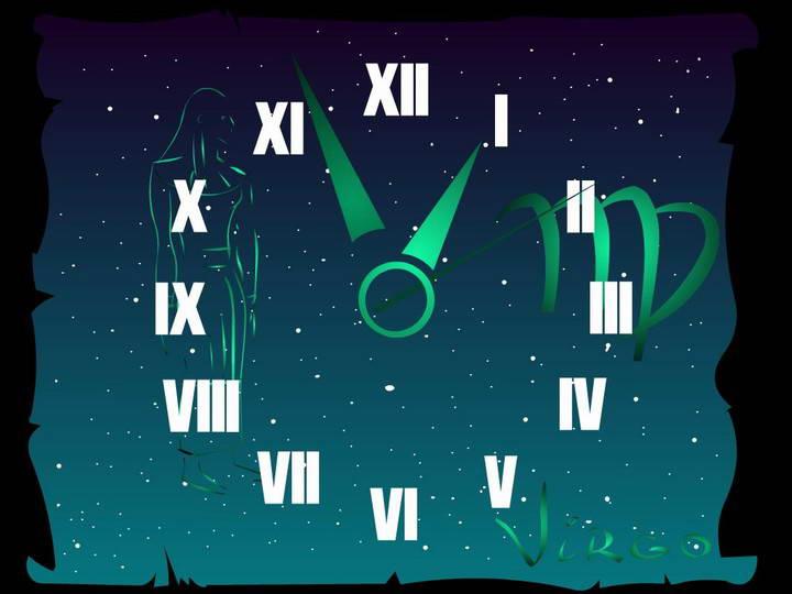 Virgo Zodiac Clock ScreenSaver